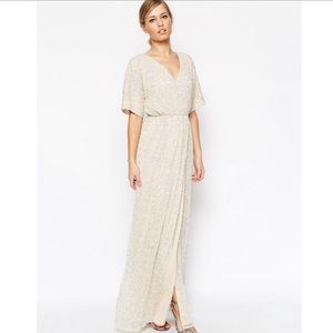 f7529af3a9 ASOS sequenced embellished kimono maxi dress NEW